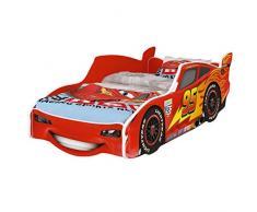 iGLOBAL - Letto per bambini Zig Zag Saetta McQueen Cars 3, con rete a doghe, 160 x 80 cm (160 x 80 cm no opaco)