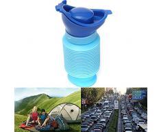 TOPmountain Emergenza orinatoio Auto orinatoio Portatile Mini Campeggio Esterna Viaggi termorestringibile Personale Mobile Toilette vasino pipì Bottiglia per Bambini Adulto (750 ml)