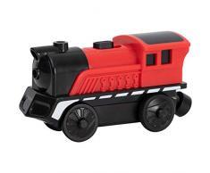 Trenino elettrico per bambini, Locomotiva ferroviaria magneticamente piccola Ferrovia giocattolo, Treno locomotiva a batteria, Compatibile con binario in legno, Regalo per ragazzi e ragazze