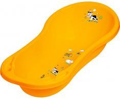Set di 2 Set Vasca da bagno XXL + Secchio per pannolini Funny Farm albicocca arancione