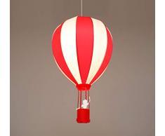 R&M Coudert - Lampada a sospensione per bambini, motivo: mongolfiera, colore: Rosso