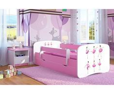 Pink Toddler Girl Kids letto principessa cavallo per bambini letto singolo con materasso e Storage incluso – Baby Dreams