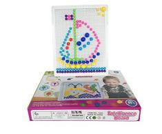 Fajiabao Chiodini Plastica Giocattoli Mattoncini Costruzioni Nails Gioco Puzzle Educativo per Bambini 3 Anni+, 318 Pezzi