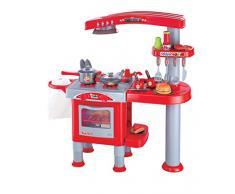 Eddy Toys 53595 - Cucina per bambini con molti accessori, 69 pezzi, rosso