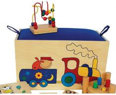 KidsToy Giocattoli creativi Legno Costruzioni ferrovia Cucina Gioco banco da Lavoro didattico - Giocattoli creativi, Legno