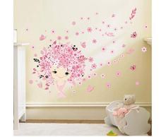 ZBYLL Wall Stickers Principessa Castello per Bambini Camera da Letto Camera Murales può Essere Rimosso