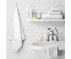 Just Contempo Asciugamano 100% cotone egiziano pettinato, grammatura 600 g/mq, asciugamano 50 x 85 cm (morbido per bambini), bianco