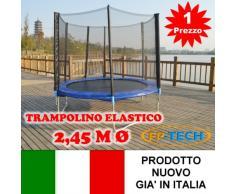 FP-TECH Trampolino Elastico da Giardino Tappeto Elastico Esterno Sport Rete (245cm - 8FT)