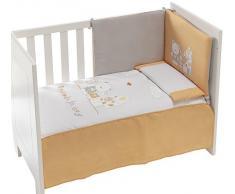 Interbaby - 91128 - Set di 3 pezzi - Trapunta + Paraurti da culla + Cuscino per letto - Arancione - 60x120 cm Arancione, 3