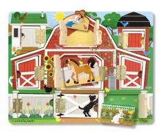 Melissa and Doug Gioco in legno Il gioco del nascondi e trova (tema: fattoria)