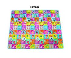 RSTA Maxi Cuccioli 200X155 Tappeto Palestra Prima Infanzia Giocattolo 210, Multicolore, 8004817100634