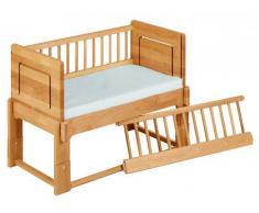Letto L'allattamento, comodino-lettino Tim 40x80 cm, in legno di ontano biologico massiccio