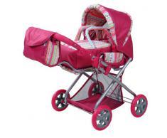 Knorrtoys.com 61838 Kyra - Passeggino combinato per bambole, colore: Strisce fucsia