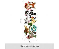 R00366 Adesivi Murali Animali Panda Tigre Decorazione Muro Bambino Cameretta Asilo Nido Camera Letto