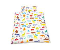 Pinolino 630529-0 - Coperta e cuscini per lettino, 'Happy Zoo'