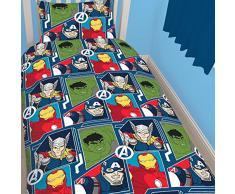Marvel Avengers Tech set copripiumino singolo reversibile Copripiumino Biancheria da letto per bambini