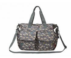 ECOSUSI Borsa per Cambio per Neonato Borsa Fasciatoio 38x15.2x33cm (borsa per pannolini + fasciatoio + bagnato asciutto borsa + borsa per bottiglia) Set di 4