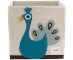 """3 Sprouts Porta Oggetti per Bambini Box """"pavone"""""""