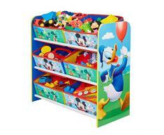 Worlds Apart HelloHome Contenitore Porta Giochi Multistore, Legno_Composito, Multicolore, 60x63.50x30 cm