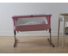 Chicco Next2Me Culla Neonato per Co-Sleeping in Tessuto, Regolabile e Agganciabile al Lettone dei Genitori, 66/81 x 93 x 69 cm, Crib Princess