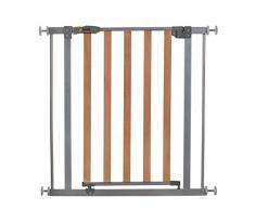 Hauck 597033 Woodlock Safegate, Cancelletto di Sicurezza in Legno/Metallo, Argento