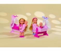 Simba Evi Love, Bambola con Bambino, Culla e Accessori, 105736242001 , Modelli/Colori Assortiti, 1 Pezzo