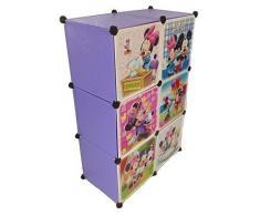 Sistema Di Scaffalature Armadio Vestiti Vivaio Di Mensola Guardaroba Mobili Bambini Armadio - 6 lilla