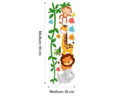 wall art R00252 Wall Sticker per bambini diebische scimmie, Wallpaper, Multicolore, 30 X 90 X CM