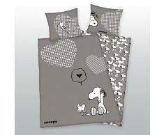 Herding 4489003027 Copripiumino singolo e federa per bambini con stampato Snoopy in cotone multicolore 140 x 200 cm