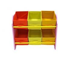 Bebe Style mobiletto di piccole dimensioni per bambini con 6 scatole di conservazione