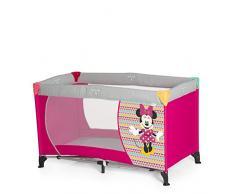 Hauck/Dream N Play/Lettino da Viaggio 3 pezzi / 120 x 60 cm/per neonati e bambini fino a 15 kg/con materasso/borsa di trasporto/pieghevole/leggero/anti-ribaltamento, minnie geo pink (rosa)