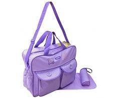 GMMH - Borsa fasciatoio XXL, 3 pz, colore viola