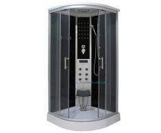 Box Doccia Idromassaggio Semicircolare 100x100 Cm Trasparente Light La100