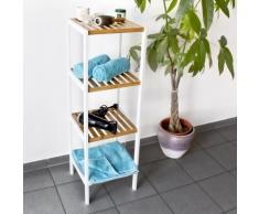 Relaxdays Mobiletto per Il Bagno/Cucina, con 4 Ripiani, Bambù, Naturale