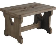 Passo legno sgabello da cucina Poggiapiedi Bambino Kids sedile rustico cuore dell'annata Dettaglio