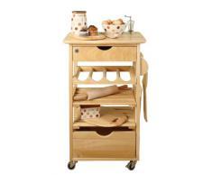 T&G - Mobiletto da cucina con rotelle in legno di evea