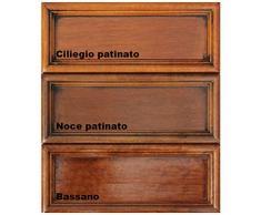 Credenza in legno con ante e cassetti per la cucina, mobile in stile