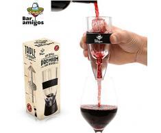 Bar Amigos® Premium Wine Aerator Aeratore Per Vino - Globalmente BREVETTATO Triple Action Design - Utilizzato da Amanti Del Buon Vino Esperti Sommelier e Ristoranti del Mondo- Set Include banco di mostra, Borsa Viaggi & Gift Box