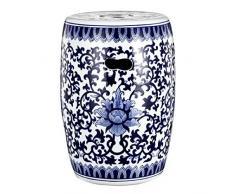 """Un gruppo Blue & & B Home Garden-Sgabello da cucina, in ceramica, colore: bianco, lunghezza 40,64 cm (16"""") 27,94 (11 cm"""