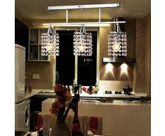 lampadario lineare con apparecchio di metallo solido, moderno ...