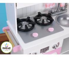 Kidkraft 53222 Cucina Giocattolo in Legno per Bambini Modern Country, Rosa e Bianco