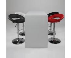 Tavolino da bar/bancone LOCK, legno, bianco lucido, con base ripiano, 130x 60x 105cm
