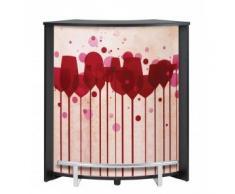 Simmob – Mobile bancone bar nero stampato – Colori – Papaveri 940