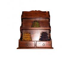 PIATTAIA da cucina in legno con 2 cassetti in legno