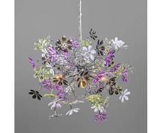 Reality Flower Lampada a Sospensione, Fiori, E14, 0 watts, Cromo, acrilico