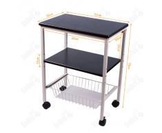SoBuy® Forno a microonde Mensole, Carrello da cucina, Mensola angolare, in metallo e legno,FRG11-SCH,IT