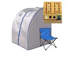 Sauna portatile a infrarossi in abete per il recupero del corpo Spa Detox terapia di perdita di peso con riflessologia agopuntura massaggio del piede pannello e sedia