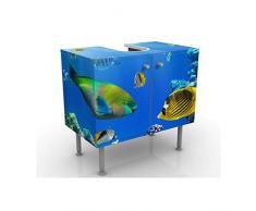 Mobile per lavabo design Underwater Lights 60x55x35cm, basso, Larghezza: 60cm, regolabile, mobiletto da lavandino, lavandino, mobiletto da lavabo, lavabo, mobiletto, bagno, bagnetto, mobile da bagno