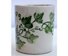 Bicchiere Portaspazzolini - Linea Edere - Ceramica - Handmade - Le Ceramiche del Castello - 100% Made in Italy