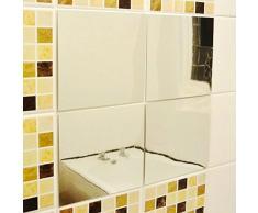 aihome 9pcs DIY decorativo specchi tessere di mosaico autoadesive specchio adesivi da parete Decor 15 * 15 cm